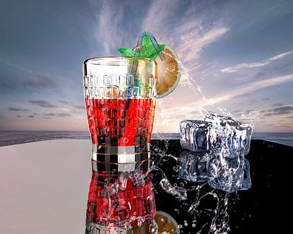 Ice, Cold, Refreshment, Cool, Background, Liquid