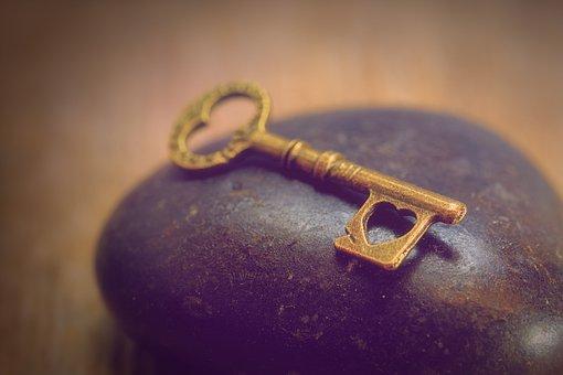 Key, Heart, Love, Romance, Romantic, Affection