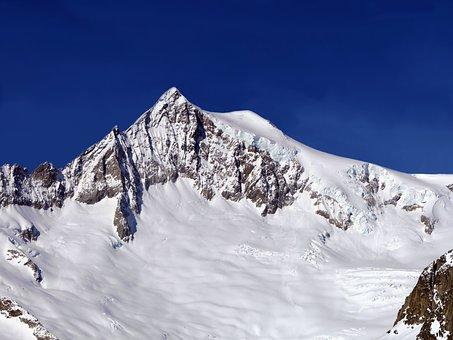 Eggishorn, Alps, Mountain, Summit, Snow, Ice, High, Sun