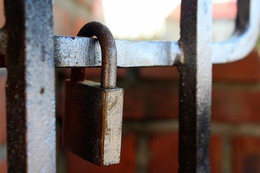 By Wlodek, Lock, Safety, Steel, Hammering, Iron, Metal