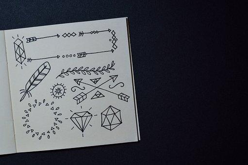 Sketch, Drawing, Address Book, Notebook, Work