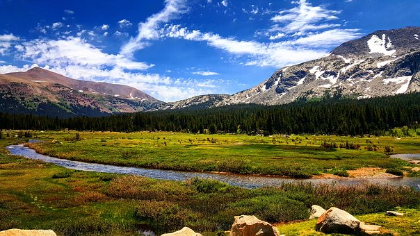 Mountain, Nature, Landscape, Lake, Water, Colorado