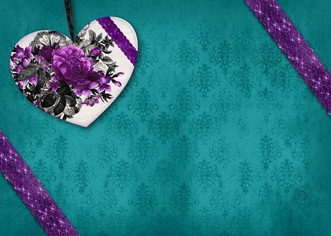 Heart, Flowers, Nostalgia, Scrapbooking, Grunge