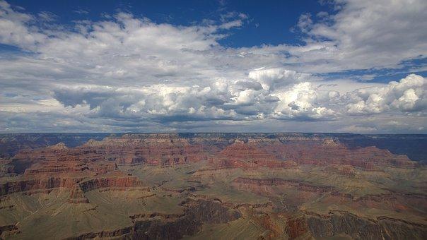 Grand Canyon, Usa, Panoramic, Landscape, Nature, Desert