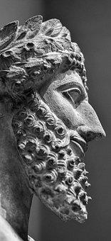 Sculpture, Statue, Art, People, Old, Face, Religion