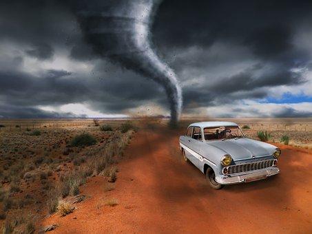 Tornado, Auto, Escape, Monkey, Storm, Forward, Risk
