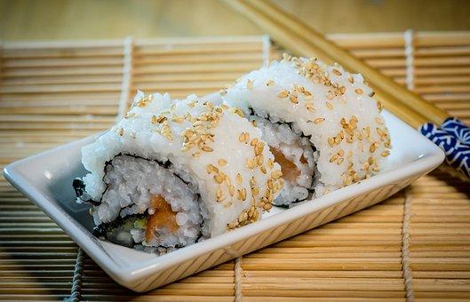 Rice, Food, Sushi, Bamboo, Gourmet, Traditionally