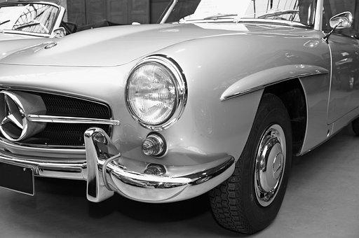 Auto, Mercedes, Vehicle, Chrome, Transport System