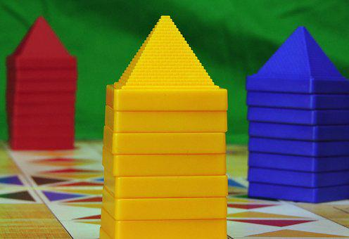 Game, Pyramids, Play, Board Game, Pastime, Buildings