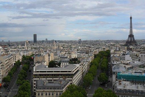 Paris, City, Panorama, France, Buildings, View