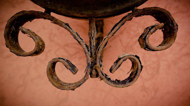 Ornament, Iron Sheet, Mount, Corrosion, Bent