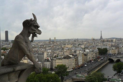City, Panorama, Paris, France, Buildings, View