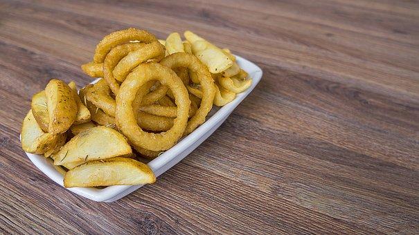Crisp, Rustic Potato, Fried Onion, Food, Fast Food