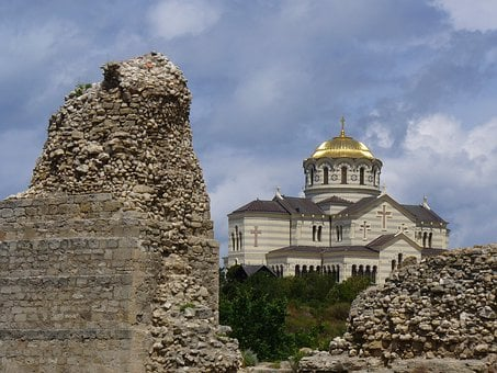 Sevastopol, Ukraine, St Vladimir Cathedral, Church