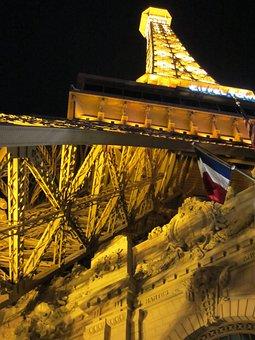 Las Vegas, Strip, Paris Hotel, Tour Eiffel Fake, Vegas