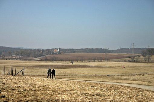 Walk, Walkers, Go For A Walk, Nature, Away, Landscape