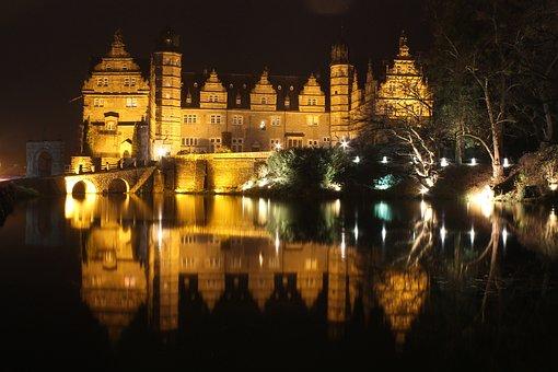 Illuminated, Night, Travel, Architecture, Evening