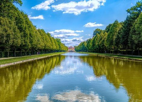 Waters, Reflection, River, Tree, Lake, Munich