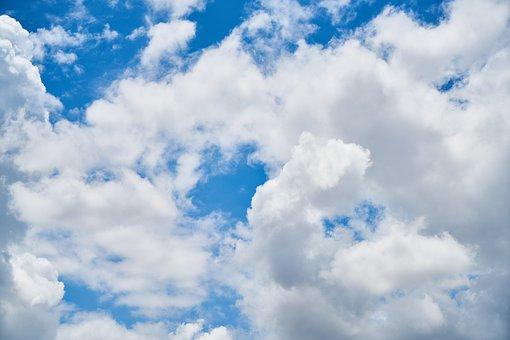 Blue, Cloud, White, Clouds, Landscape, Nature
