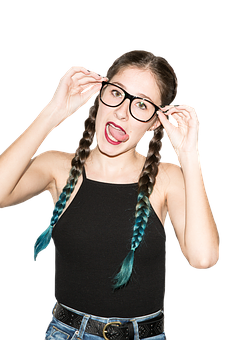 Hairs, Girl, Female, Specs, Hands, Elbow, Fashion, Face