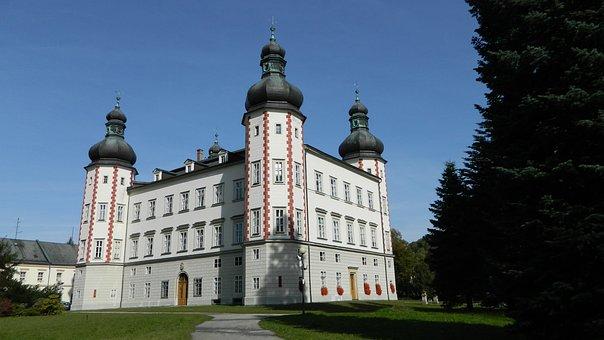 Vrchlabi Castle, Autumn, Architecture, Nature, Park