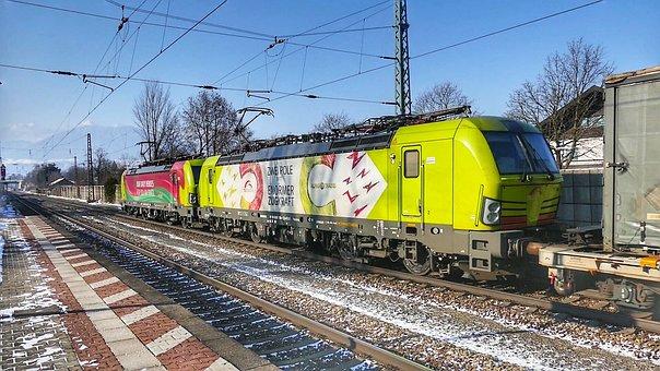 Train, Railway, Transport System, Railway Line, Traffic