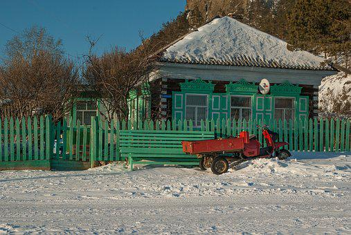 Lake Baikal, Wooden House, Closing, Old House
