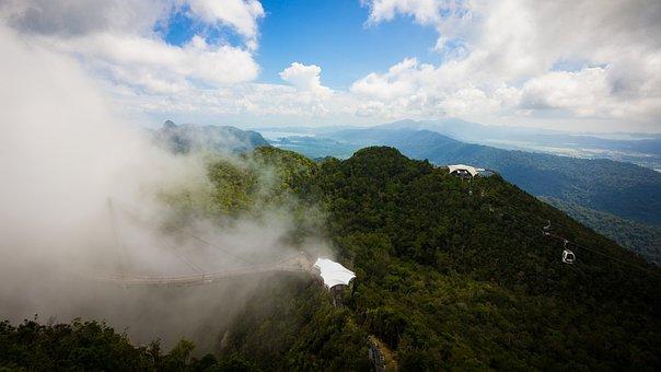 Nature, Mountain, Landscape, Langkawi, Bridge