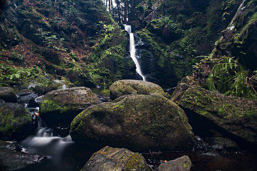 Nature, Waters, Waterfall, Rock, River, Rock Waters