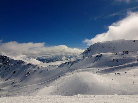 Mountain, Snow, No Person, Landscape, Winter