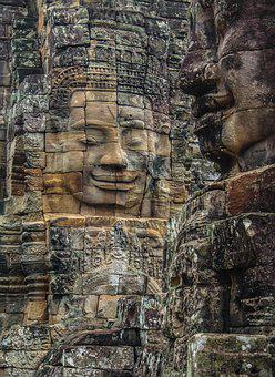 Wat, Ancient, Temple, Old, Buddha, Architecture