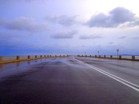 Sky, Nature, Road, Landscape, Travel, Azerbaijan, Sea