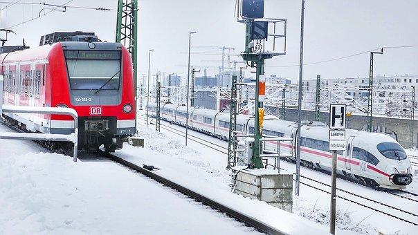 Transport System, Winter, Snow, Traffic, Horizontal