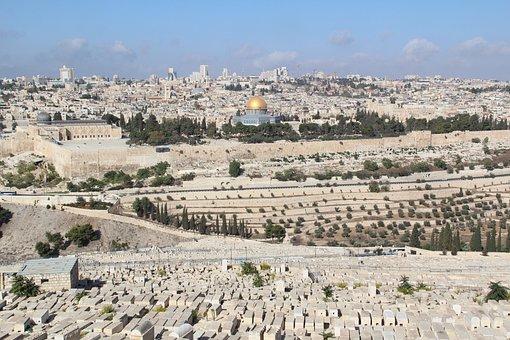 Tourism, Israel, Jerusalem, Old Town, Jewish Cemetery
