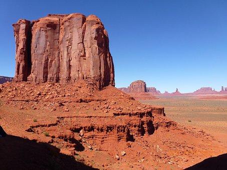 Nature, Usa, Park, Desert, Pink Sandstone, Roche