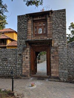 Architecture, House, Brick, Old, Wood, Building, Door