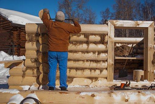 Siberia, Irkutsk, Wooden House, Carpenter