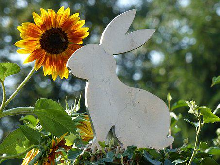 Art, Hare, Easter, Metal, Decoration, Giant Rabbits