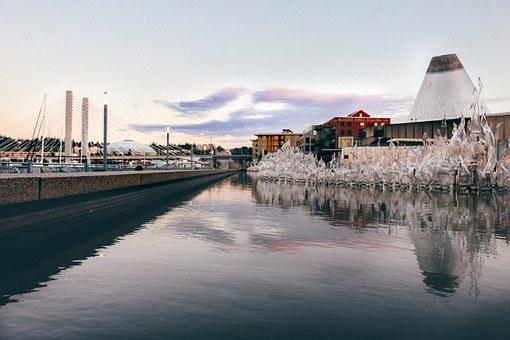 Glass, Museum, Tacoma, Washington, Water, Reflection