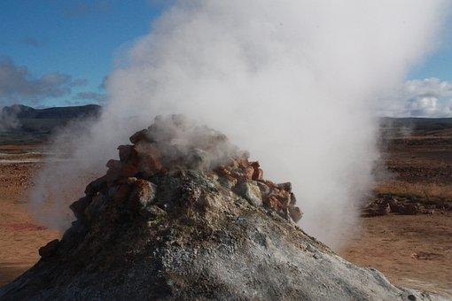 Namafjall, Hverir, Iceland, Fumarole, Sulfur, Volcanism