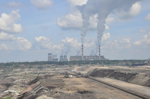 Power Station, Mine, Brown Coal, Zwałowisko, Heap, View
