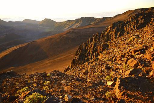 Haleakala, Crater, Volcano, Maui, Park, National