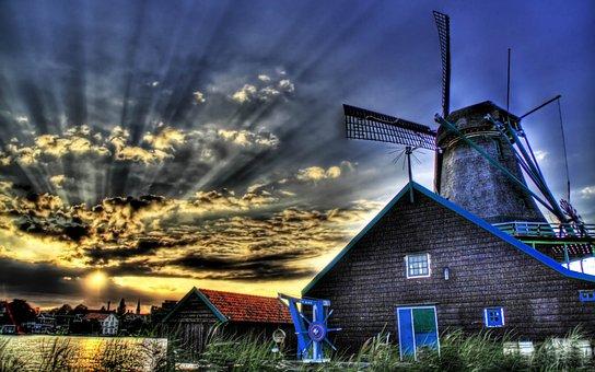 Farmhouse, House, Wow, Farm, Landscape, Countryside