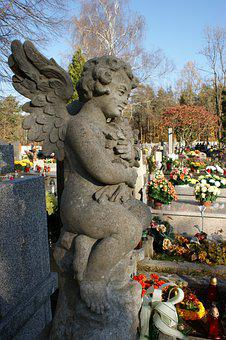 Sculpture, The Statue, The Art Of, Cemetery, Autumn