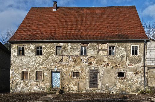 Old Mill, Building, Window, Doors, Nailed It, Wall