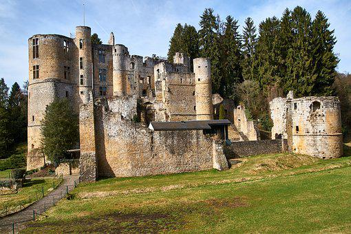 Castle, Green, Middle Ages, Mystical, History