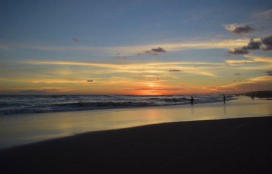 Sunset, Beach, Landscape, Water, Sea, Dusk, Yogyakarta