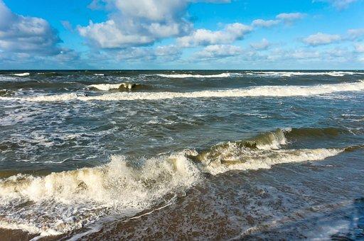 Storm, Sea, Ocean, Wave, Water, Nature, Background