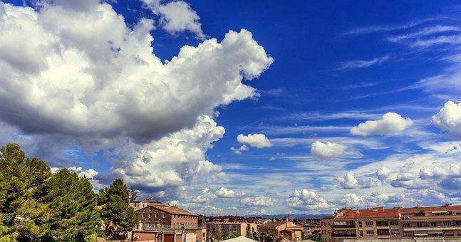 Clouds, Blue Sky, Nature, Sky, Summer, Panoramic