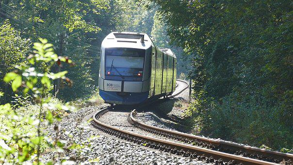 Train, Railway Line, Railway, Race Track
